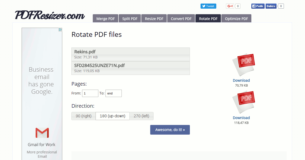 Rotate PDF Online - PDF Tools